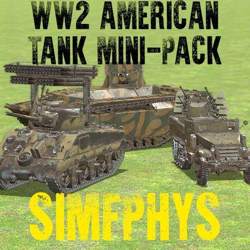 [simfphys] WW2 American Tank Mini-Pack | Garrys mod моды