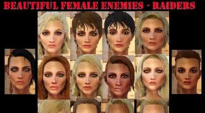 Fallout 4 — Красивые девушки-противники | Fallout 4 моды