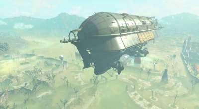 Fallout 4 — Персональный дирижабль: дом-поселение | Fallout 4 моды
