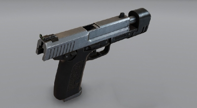 GTA 5 — Пистолет из Half-Life 2 (Half-Life 2 — Pistol) | GTA 5 моды
