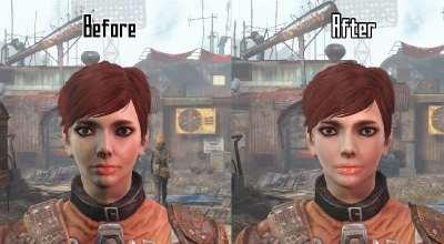 Fallout 4 — Чистые текстуры лиц для девушек   Fallout 4 моды