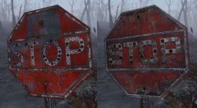 Fallout 4 — Реплейсер дорожных знаков | Fallout 4 моды