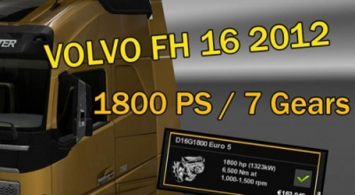 ETS 2 — Новый движок для Volvo FH16 2012 (Volvo FH 16 2012 1800 HP) | ETS2 моды