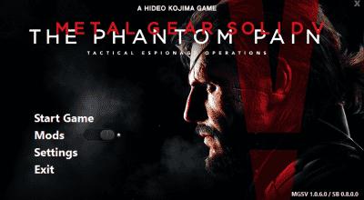 SnakeBite Mod Manager | Metal Gear Solid V моды