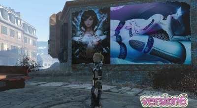 Fallout 4 — Эро-постеры и рекламные щиты (18+) | Fallout 4 моды
