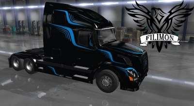 ATS — Вольво линии V2.0 | American Truck Simulator моды