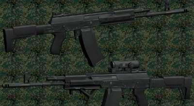 GTA San Andreas — АК-12 из Contract Wars   GTA San Andreas моды
