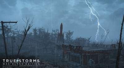 Fallout 4 — Новые текстуры и звуки для дождя и грома | Fallout 4 моды