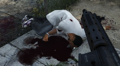 GTA 5 — Реалистичная кровь (Realistic blood pools)   GTA 5 моды