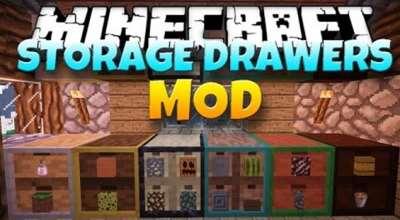 Minecraft — StorageDrawers для 1.7.10, 1.8 / Разнообразные шкафы | Minecraft моды