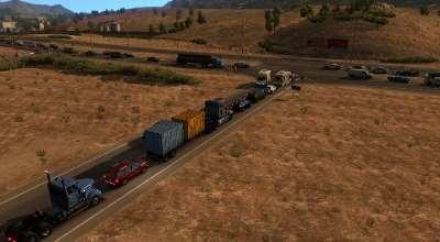 ATS — Увеличение количества трафика | American Truck Simulator моды