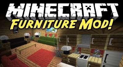 Minecraft — Furniture Mod для 1.8, 1.7.10 / Куча новых разнообразных предметов | Minecraft моды