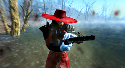 Fallout 4 — Красный плащ и Шляпа лорда Вампиров   Fallout 4 моды
