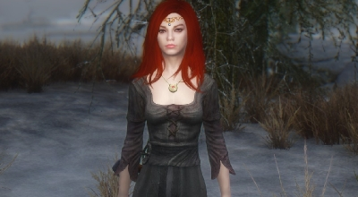 Skyrim — Спутница вампир Синтия | Skyrim моды