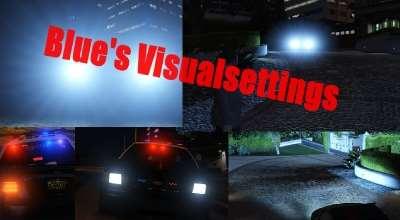 GTA 5 — Улучшение световых эффектов машин (Blue's Visualsettings Mod) | GTA 5 моды