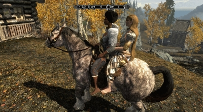 Skyrim — Совместные поездки со спутниками верхом на лошади | Skyrim Special Edition моды