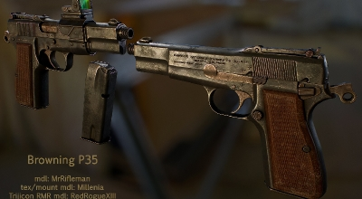 Fallout NV — Browning P35 | Fallout New Vegas моды