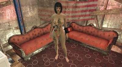 Fallout 4 — Татуировки в стиле Mirrors Edge (для CBBE) | Fallout 4 моды