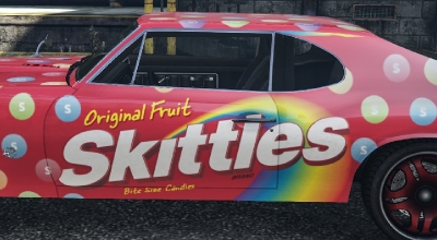 GTA 5 — Раскраска Skittles («Skittles» Themed Stallion)   GTA 5 моды