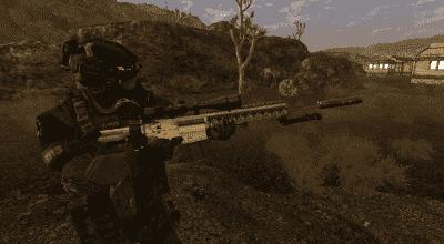 Fallout New Vegas — Штурмовая и снайперская винтовки HK417, HK417D | Fallout New Vegas моды