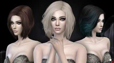 Sims 4 — Прическа средней длины Stealthic — Vapor | The Sims 4 моды