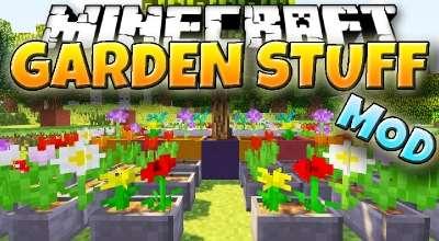 Minecraft — Garden Stuff / Горшки и декоративные детали | Minecraft моды