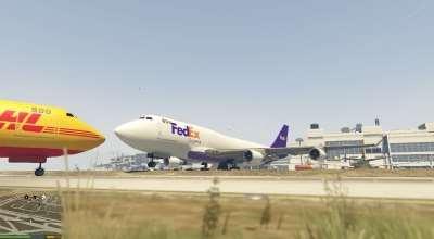 GTA 5 — Самолеты с логотипами реальных компаний (Realistic Cargo Airline Textures)   GTA 5 моды
