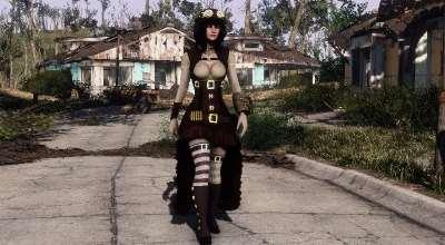 Fallout 4 — Стимпанк броня для девушек (CBBE) | Fallout 4 моды
