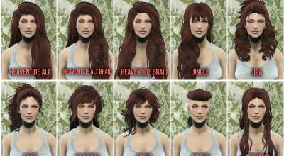 Fallout 4 — Прически Commonwealth Cuts — KS Hairdos — ApachiiSkyHair | Fallout 4 моды
