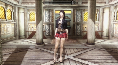 Skyrim — Сексуальная одежда UNP-HDT | Skyrim моды