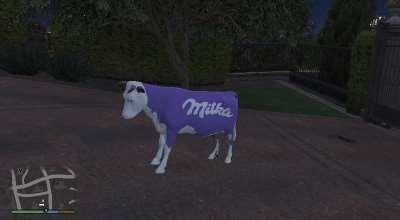 GTA 5 — Корова Милка (Milka Cow) | GTA 5 моды