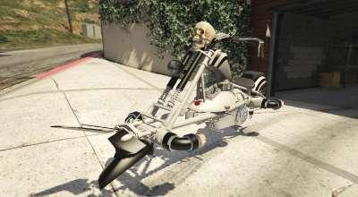 GTA 5 — Уникальный летающий мотоцикл (Motojet Hexer) | GTA 5 моды