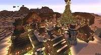 Minecraft — Секретная деревня Деда Мороза (Северный полюс) | Minecraft моды