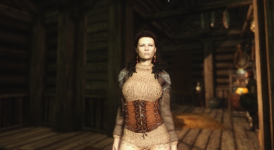 Skyrim — Кожаная броня Daughter of War (unp-HDT) | Skyrim моды