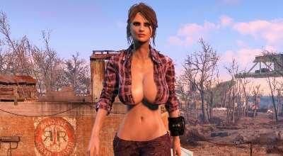 Fallout 4 — Фланелевая рубашка с джинсами (CBBE) | Fallout 4 моды