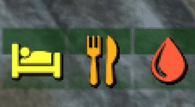 Fallout 4 — Цветные иконки потребностей   Fallout 4 моды