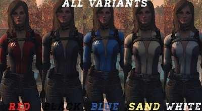 Fallout 4 — Сборка комбинезона убежища в разных цветах (CBBE / BodySlide) | Fallout 4 моды