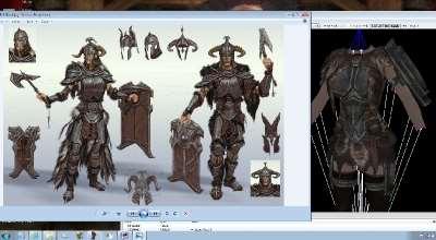 Skyrim — Новая ванильная броня для UNP HDT | Skyrim моды