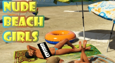 GTA 5 — Девушки топлесс на пляже (Nude Beach Girls) (18+) | GTA 5 моды