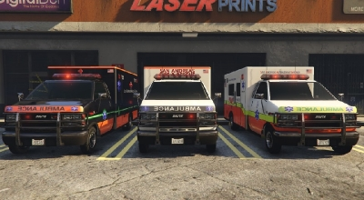 GTA 5 — Скорая помощь Сан-Андреаса (San Andreas Ambulance textures (HD) )   GTA 5 моды