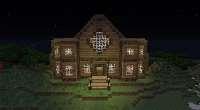 Minecraft 1.7.4 — Карта с большим поместьем из дерева | Minecraft моды