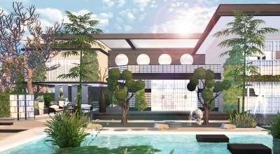 Sims 4 — Современный японский дом | The Sims 4 моды