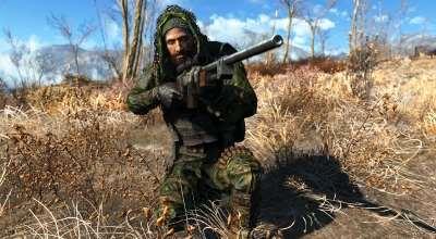 Fallout 4 — Cнайпер Пустоши. Новый костюм   Fallout 4 моды