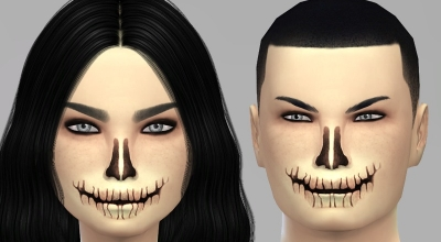 Sims 4 — Реалистичная маска скелета Halloween Skeleton Face Mask | The Sims 4 моды