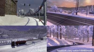 ETS 2 — Зимний мод | ETS2 моды