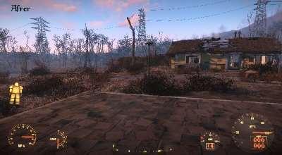 Fallout 4 — «Чистый» HUD в силовой броне | Fallout 4 моды
