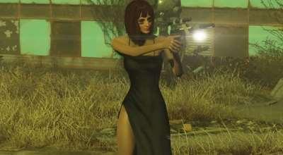 Fallout 4 — Платье с физикой груди (CBBE) | Fallout 4 моды
