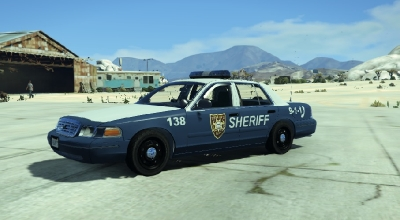 GTA 5 — Машина шерифа из Ходячих Мертвецов (Walking Dead Sheriff Crown Victoria) | GTA 5 моды