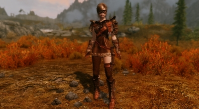Skyrim — Реплейсер тяжелой брони для девушек (UNP / CBBE)