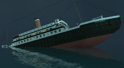 Garry's Mod 13 — Карта «(Тонущий) RMS Honourable»